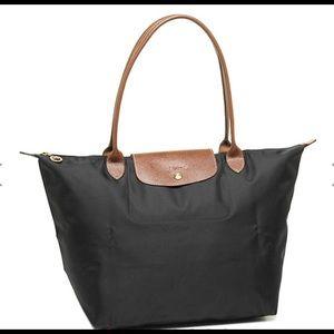 Authentic Longchamp Le Pliage Large Tote Black
